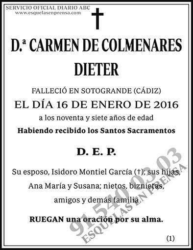 Carmen de Colmenares Dieter